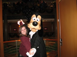 Dancing with Goofy on a Disney Cruise
