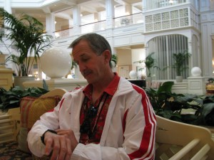 Dad checks his watch at the Grand Floridian