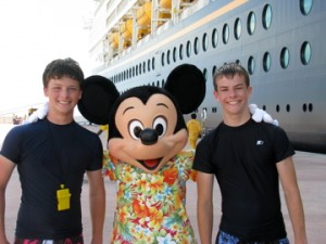Disney Cruise Line with Teen Boys