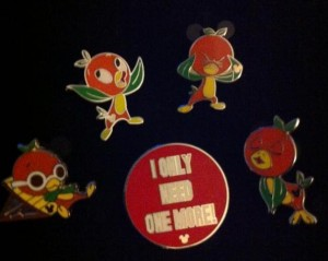 Orange Bird Pin Collection