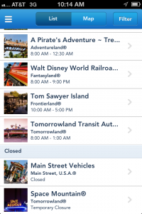 Choosing Activities in MyDisneyExperience