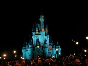 Cinderella Castle in Walt Disney World at Night