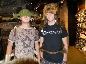 Yoda and Chewie Hats
