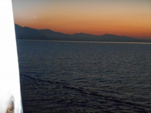 The Mediterranean Sunset - Viewed from our Balcony on the Disney Magic