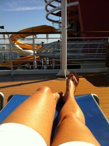 Relaxing on Deck / Disney Cruise Line