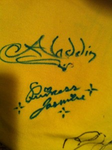 Disney Character Autographs - Aladdin and Jasmine