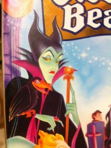 Maleficent on Sleeping Beauty movie cover