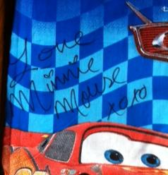Pillowcase for Disney Character Autographs