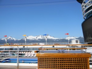 The View from Deck, Disney Cruise Line in Alaska