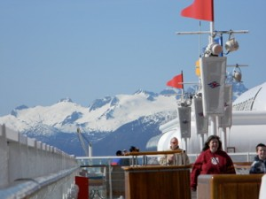 Views from the Deck of the Disney Wonder in Alaska