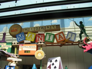 Entrance for Toy Story Midway Mania