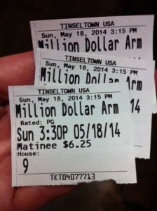 Million Dollar Arm Ticket Stub