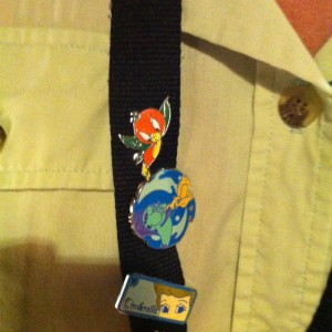 Cast Member Lanyard - Orange Bird Pin!