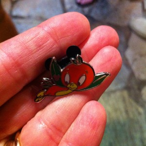 Disney Pin - Flying Orange Bird