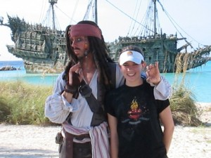 Captain Jack Sparrow Photo Op on Castaway Cay