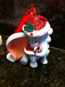 Dumbo Christmas Ornament