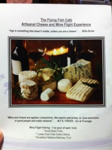 Flying Fish Cafe Artisanal Cheeses