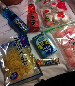 Our Loot!  Japanese Snacks from Mitsukoshi