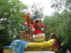 Donald in Mickey's Jammin Jungle Parade