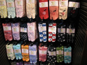 Shopping for Socks in Epcot's Japan