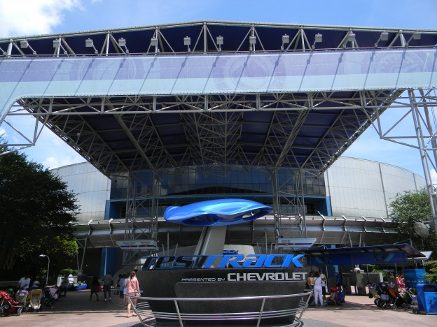 Epcot's Test Track Exterior