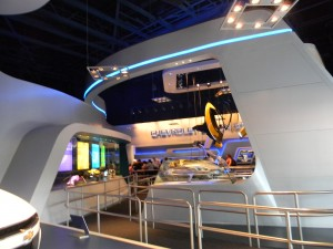 Inside Epcot's Test Track Building