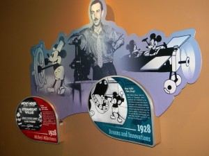 Display wall in Walt Disney: One Man's Dream / Disney's Hollywood Studios