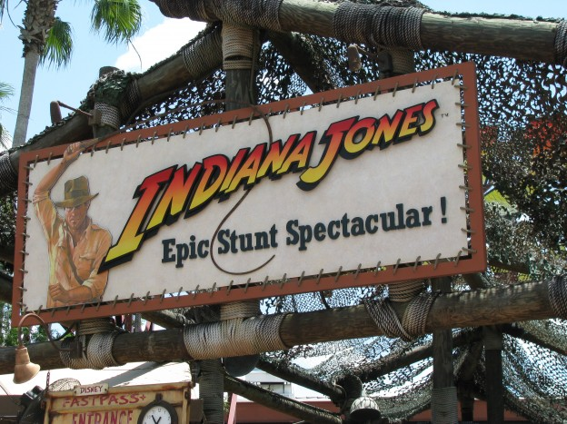 Sign for Indiana Jones Epic Stunt Spectacular