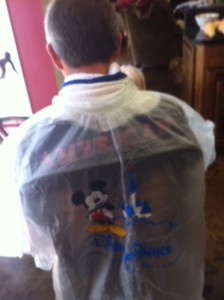 Disney Parks Poncho as a Salon Smock