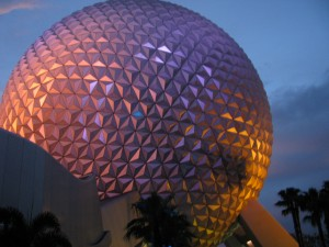 Spaceship Earth at Sunset / Epcot / Walt Disney World