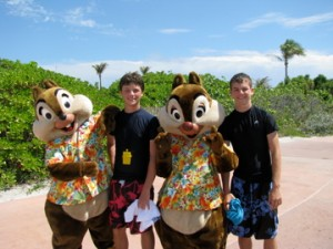 Chip & Dale on Castaway Cay