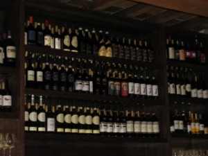 Wine Wall in Epcot's Tutto Gusto
