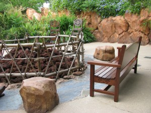 Firepit on the Animal Kingdom Lodge's savannah overlook