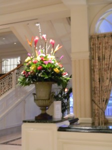 Floral Arrangement in the Grand Floridian