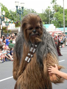 Wookie in Star Wars Parade