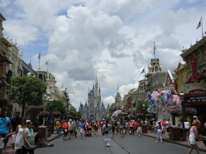 View of Cinderella Castle from Main Street U.S.A.