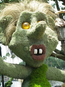 Troll Topiary in Epcot's Norway Pavilion