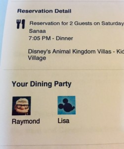 Printed Reservations