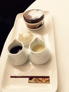 Chocolate Souffle Presentation