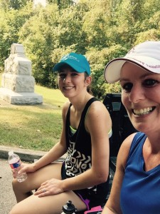 Megan and Lisa - Post run rest