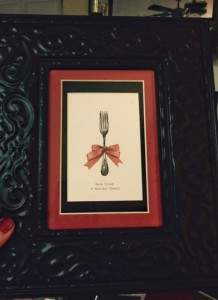 Christmas-Flatware-Framed-Picture