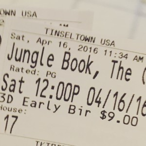 Jungle Book Ticket Stub