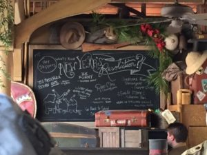 Jingle Cruise Chalk Board